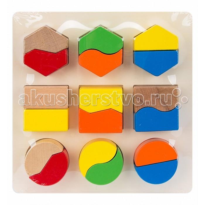 Деревянные игрушки Игруша Геометрические фигуры конструкторы игруша геометрические блоки 18 деталей