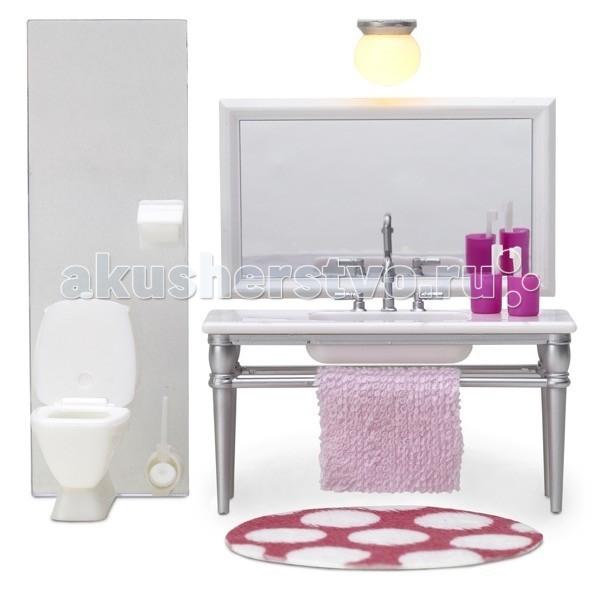 Картинка для Кукольные домики и мебель Lundby Мебель для домика Смоланд Ванная набор с 1 раковиной