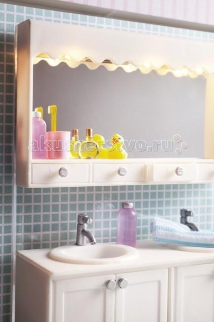 Lundby Мебель для домика Смоланд Ванная набор с 2 раковинами фото