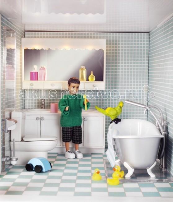Картинка для Кукольные домики и мебель Lundby Мебель для домика Смоланд Ванная и душевая