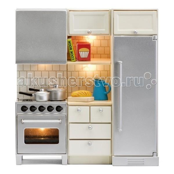 Кукольные домики и мебель Lundby Смоланд Кухня с холодильником и плитой, Кукольные домики и мебель - артикул:51484