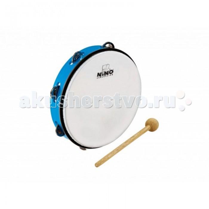 Музыкальные игрушки Meinl Тамбурин с синтетической мембраной и колотушкой Nino24SB, Музыкальные игрушки - артикул:514846