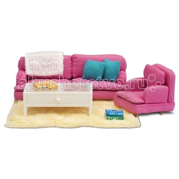 Кукольные домики и мебель Lundby Смоланд Гостиная в розовых тонах