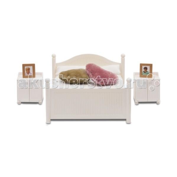 Кукольные домики и мебель Lundby Смоланд Спальня белая, классическая