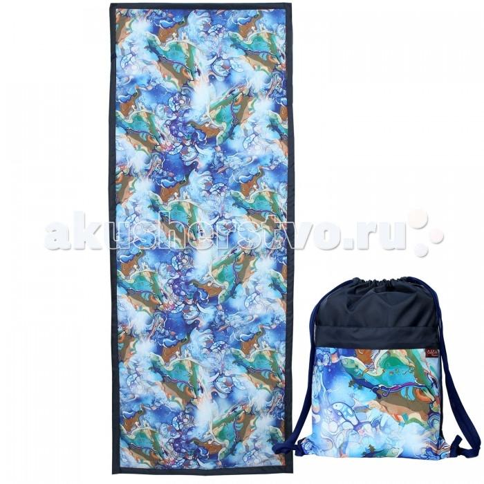 Сумки для мамы OnlyCute Рюкзак и коврик одноместный В синем море, в белой пене, Сумки для мамы - артикул:515231