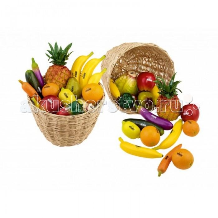 Музыкальные игрушки Meinl Пластиковые шейкеры Botany в форме фруктов и овощей, Музыкальные игрушки - артикул:516041