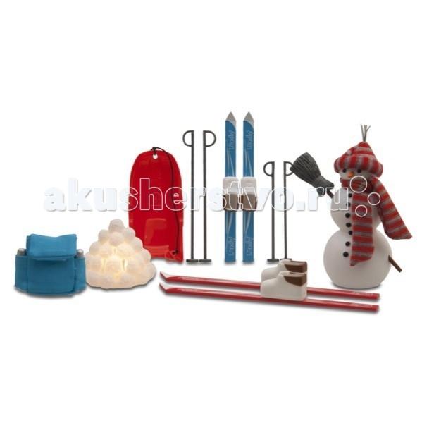 Кукольные домики и мебель Lundby Смоланд Зимний набор для отдыха на воздухе