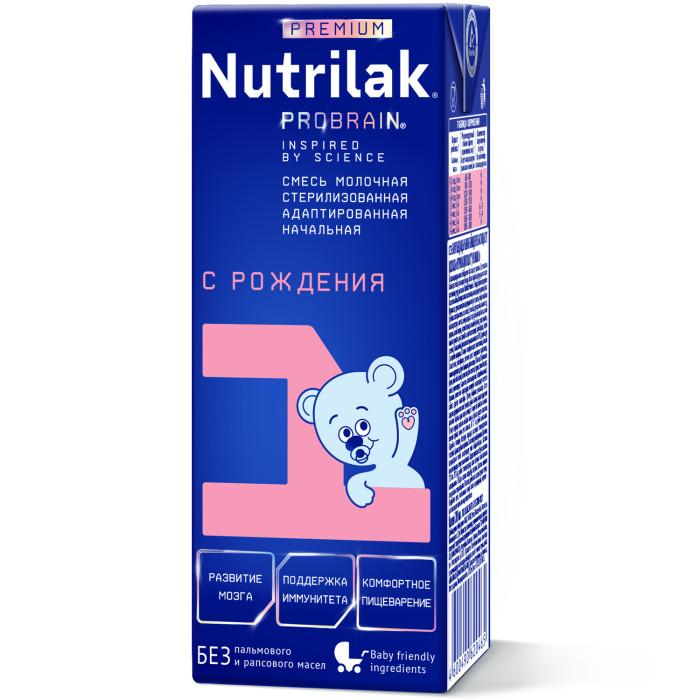 Молочные смеси Nutrilak Готовая молочная смесь Premium 0-6 мес. 200 мл молочная продукция беллакт молоко стерилизованное с витаминами а с 2 5% 8 мес 200 мл