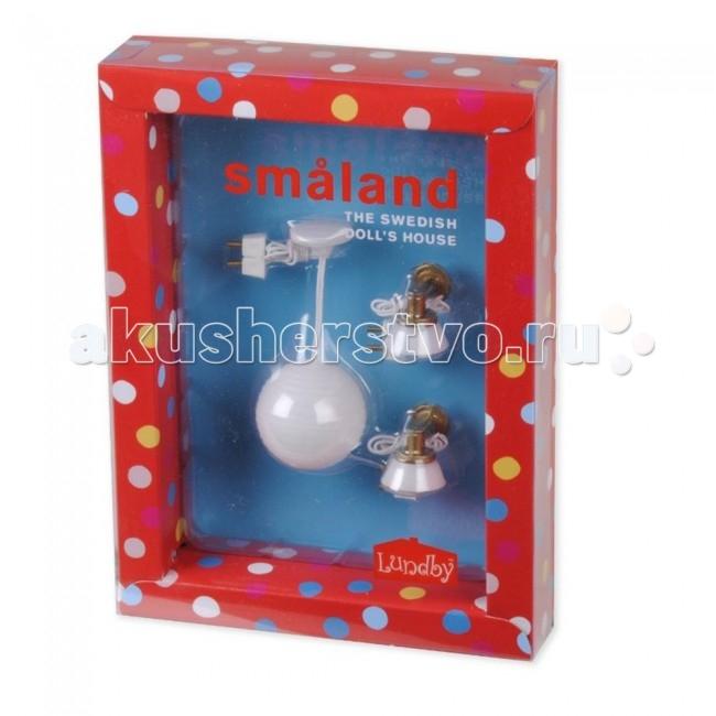 Кукольные домики и мебель Lundby Свет 3 Смоланд Люстра с абажюром и 2 настенных бра