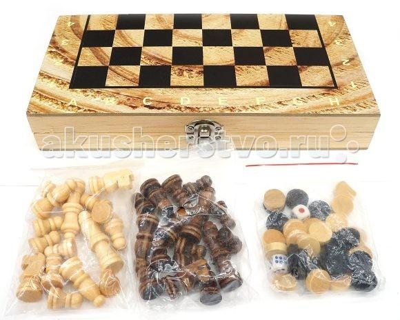 Настольные игры Shantou Gepai Шахматы 3 в 1 W3418-4 настольные игры экспедиция шахматы дорожные