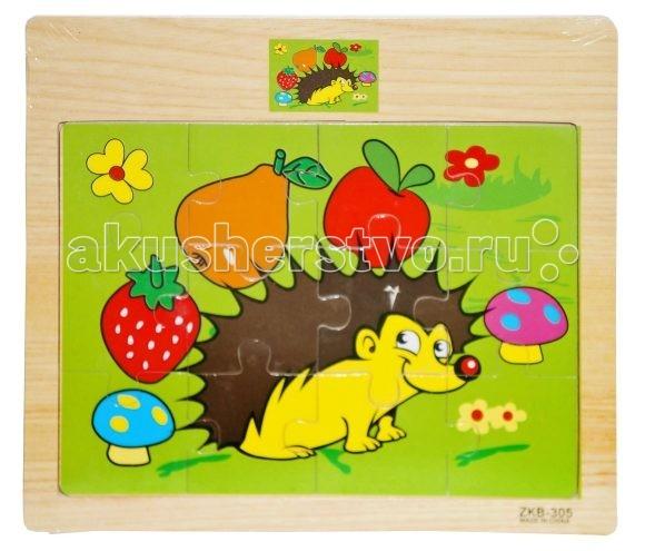 Деревянные игрушки Mapacha Пазлы Веселые зверюшки цена 2017
