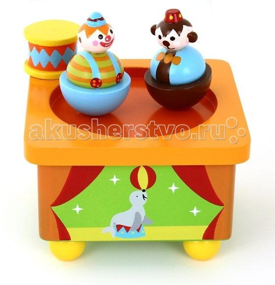 Деревянные игрушки Mapacha Волшебная коробочка Клоун