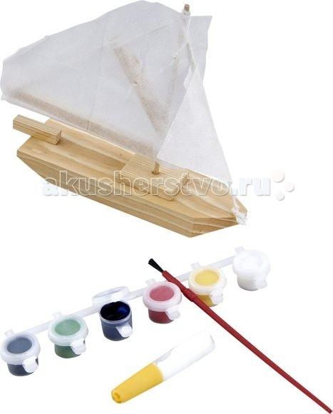 Наборы для творчества Mapacha Модель Парусник с красками