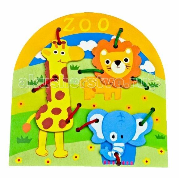 Деревянные игрушки Mapacha Шнуровка Животные