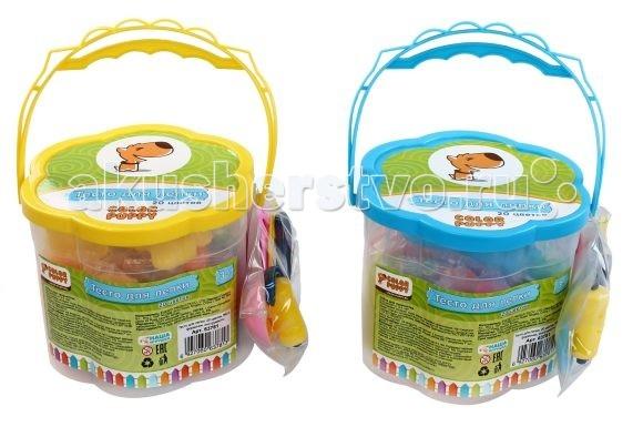 Всё для лепки Color Puppy Тесто для лепки 20 цветов 560 г. color puppy тесто для лепки 26 цветов 442г формы ролик