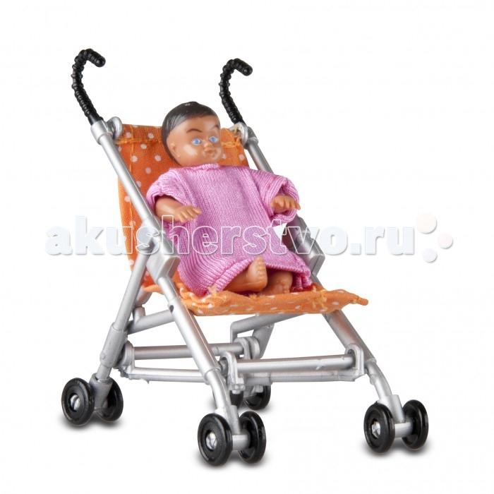 Кукольные домики и мебель Lundby Аксессуары для домика Прогулочная коляска и малыш LB_60508500 дом для кукол lundby классический