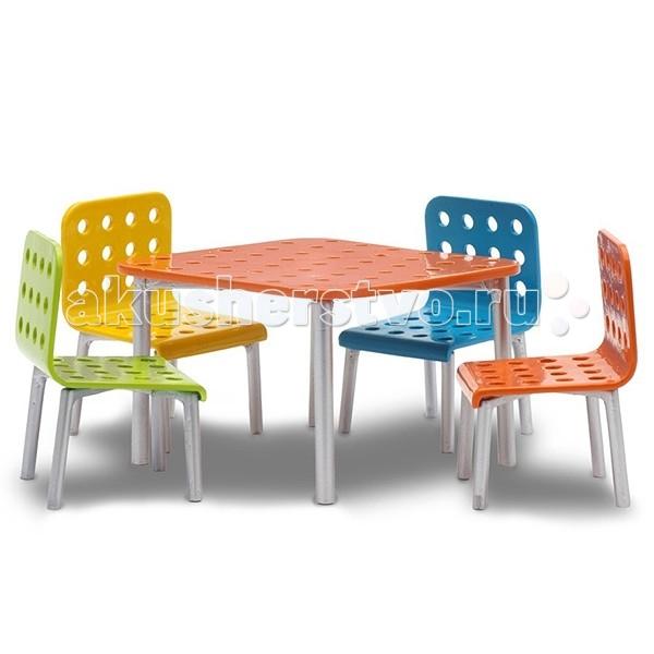 Картинка для Кукольные домики и мебель Lundby Мебель Стокгольм Стол со стульями для террасы