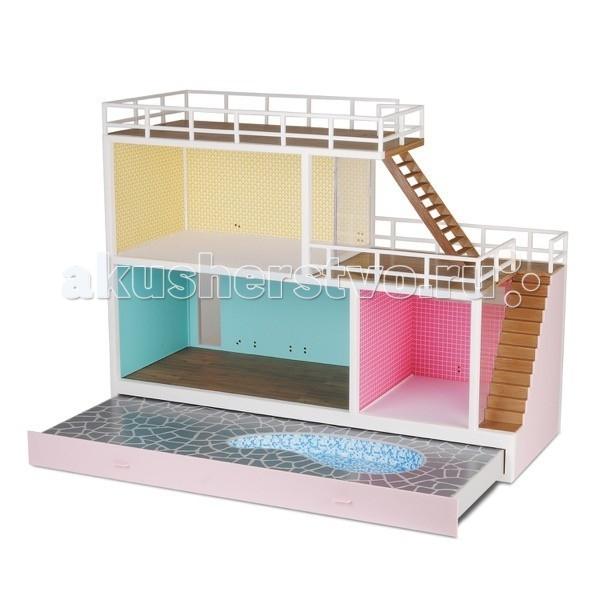 Lundby Стокгольм Кукольный домик с выдвигающимся бассейном с подключением света