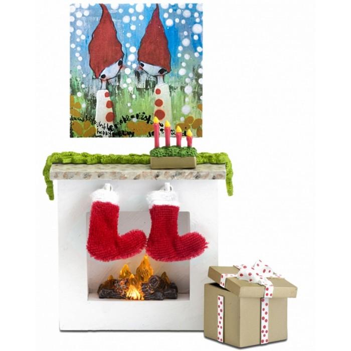 Кукольные домики и мебель Lundby Мебель для домика Камин с аксессуарами