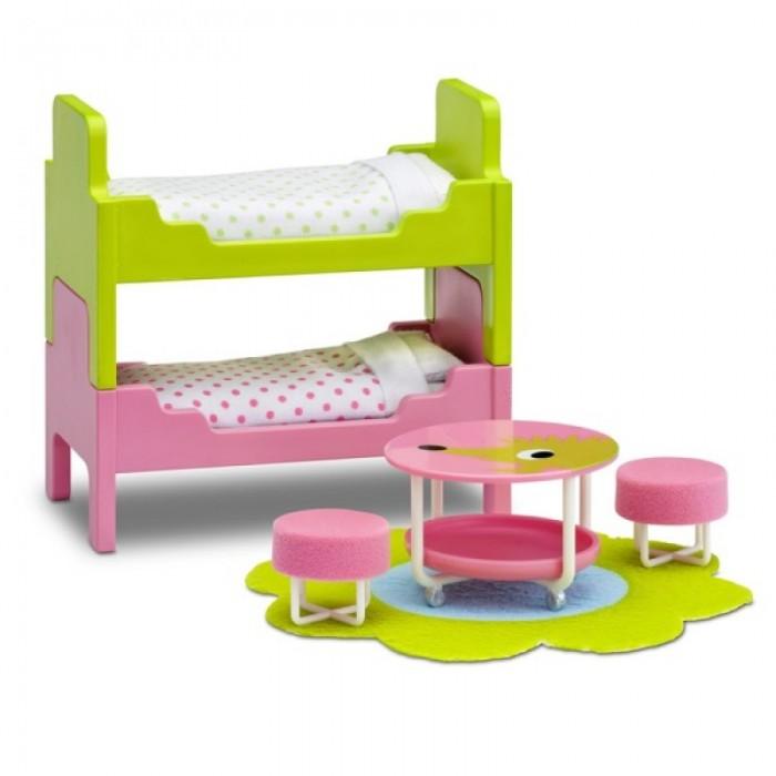 Картинка для Кукольные домики и мебель Lundby Мебель для домика Смоланд Детская с 2 кроватями