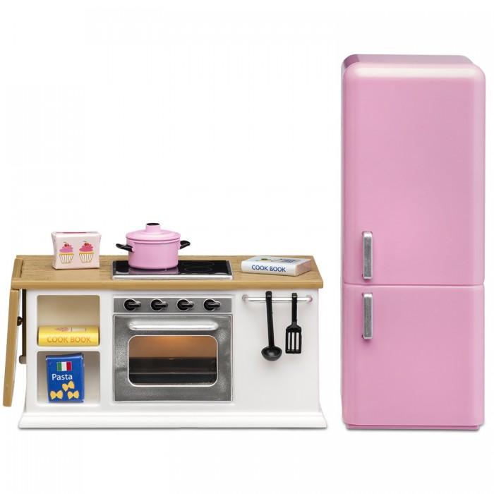 Картинка для Кукольные домики и мебель Lundby Мебель для домика Смоланд Кухонный набор с холодильником LB_60202700