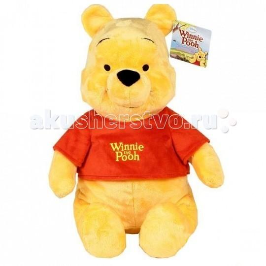 Мягкая игрушка Disney Винни 61 смВинни 61 смТрогательный медвежонок Винни воплощает идеи верной дружбы, простых радостей детства и жажду приключений. Ваш малыш уже давно мечтает о таком плюшевом друге! Винни изготовлен из ярких, приятных на ощупь тканей.   Очень важным аспектом является то что, у игрушки отсутствуют пластиковые элементы: нос выполнен из мягкой ткани, а глазки вышиты – такую игрушку малыш может взять с собой кровать, вам не стоит опасаться, что прижав ее во сне, он может пораниться.   Игрушка изготовлена из текстильных материалов, набивка – чистый, гипоаллергенный синтепон.   Уход: стирка ручная или в стиральных машинах любого типа с мало пенообразующим порошком при температуре не выше 30С.<br>