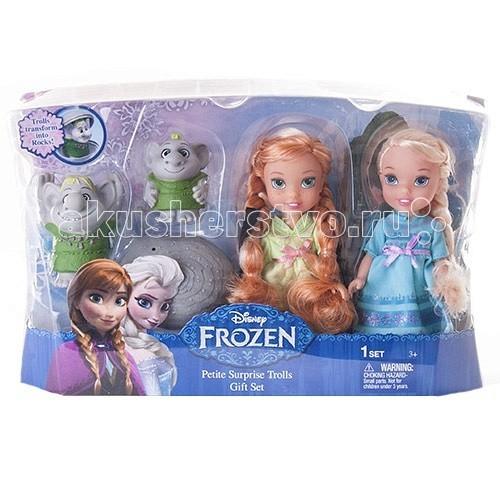 Disney Princess Игровой набор Принцессы Дисней Холодное Сердце 2 куклыи троллиPrincess Игровой набор Принцессы Дисней Холодное Сердце 2 куклыи троллиИгровой набор Принцессы Дисней Холодное Сердце 2 куклы 15 сми тролли  Игровой набор Disney Princess с Анной и Эльзой из мультфильма Холодное Сердце. Помимо куколок принцесс, включает двух троллей - друзей Кристоффа.   Тролли могут превращаться в камни, чтобы спрятаться от любопытных глаз! В комплект входит пластиковый камень, куда можно посадить троллей.  В комплекте: 2 куклы 2 тролля раскрывающийся камень  Высота каждой куклы: 15 см<br>