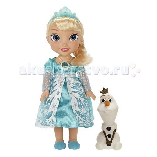 Disney Princess Эльза Холодное Сердце Принцессы ДиснейPrincess Эльза Холодное Сердце Принцессы ДиснейКукла Эльза Холодное Сердце Принцессы Дисней функциональная  Очаровательная малышка принцесса Эльза - яркий выбор для девочки. Дотроньтесь до волшебного амулеты принцессы Эльзы и она споет песню из мультфильма «Холодное Сердце».  Платье маленькой принцессы очень красивое и «зимнее», с множеством блестящих «бриллиантов», на голове у нее красивая диадема.  Куколка Disney Princess не одна – с ней ее друг, забавный снеговик Олаф.  В комплекте: поющая кукла Эльза Снеговик Олаф Кукла поет песню из мультфильма (на разных языках)  Чтобы услышать песню, нажмите на амулет куколки  Высота куклы: 30 см Высота Олафа: около 15 см  Для работы необходимо 3 ААА батарейки<br>