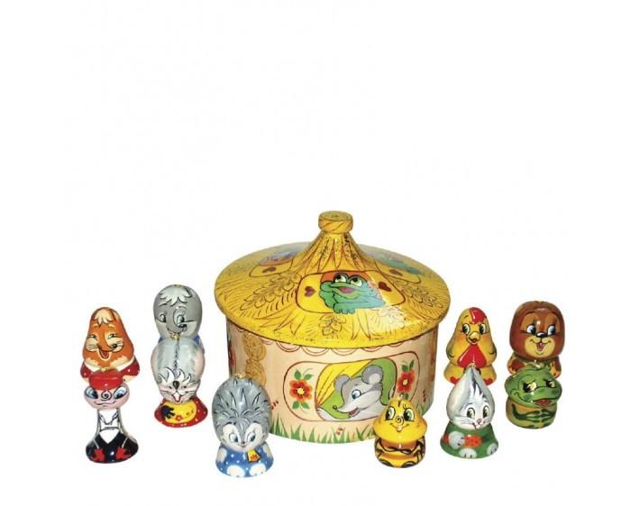 Деревянная игрушка Хохлома Счетный материал Теремок 1
