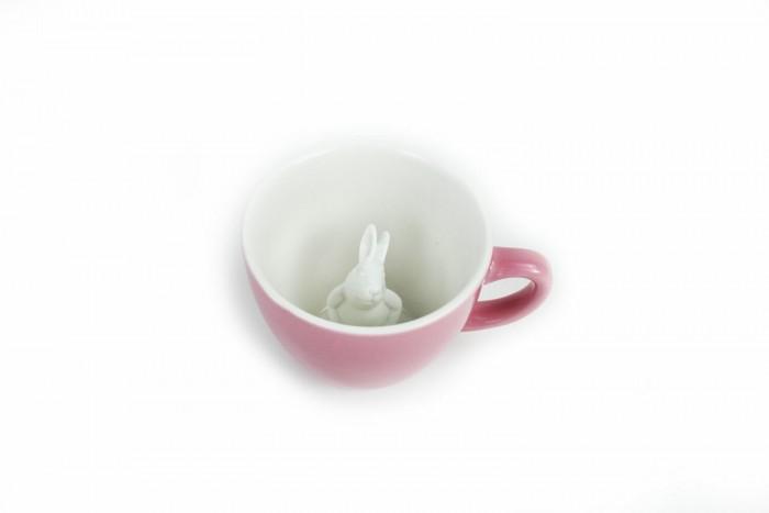 Аксессуары для кормления , Посуда Creature Cups Кружка с кроликом розовая 330 мл арт: 522486 -  Посуда