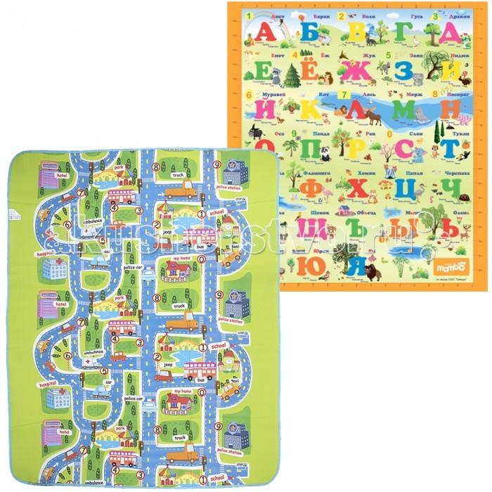 Игровые коврики Mambobaby Набор из 2 штук: Город и Русский Алфавит игровые коврики mambobaby город