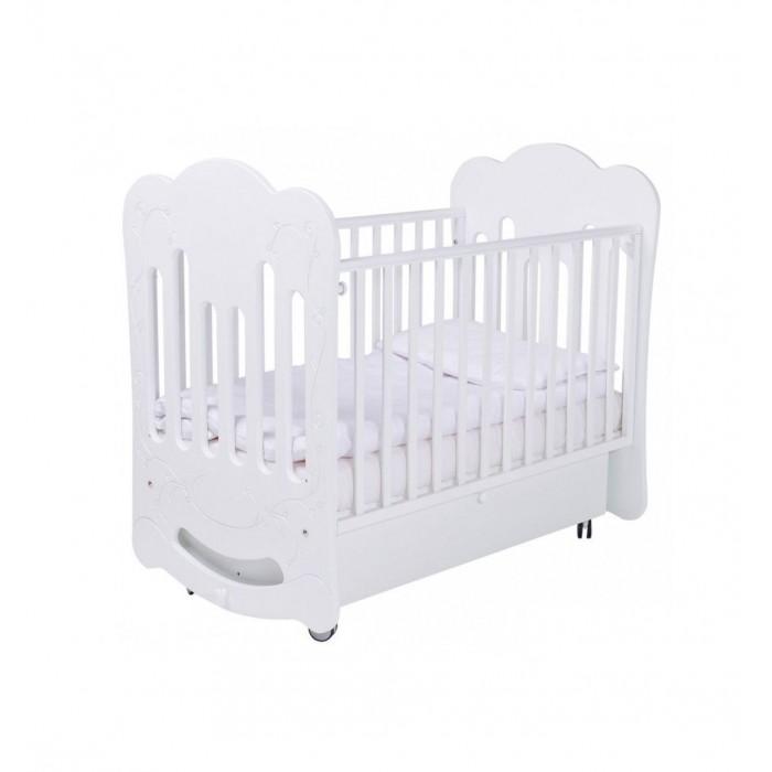 Купить Детская кроватка Papaloni маятник Bloom 120х60 в интернет магазине. Цены, фото, описания, характеристики, отзывы, обзоры
