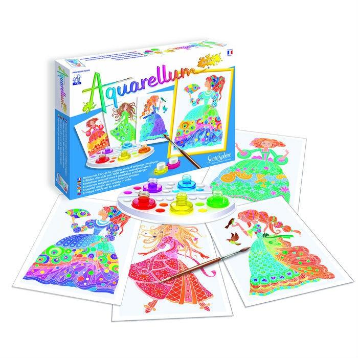 Творчество и хобби , Раскраски SentoSpherE Акварельная Цветочные принцессы арт: 523106 -  Раскраски