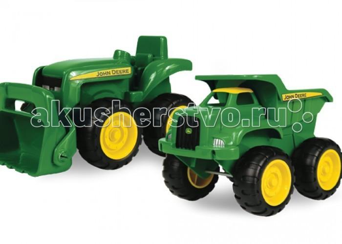 Машины Tomy Набор для песочницы Трактор и самосвал машины tomy трактор john deere monster treads с большими резиновыми колесами
