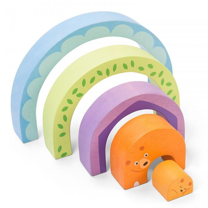 Деревянные игрушки LeToyVan Пазл Мишка в радуге, Деревянные игрушки - артикул:523401