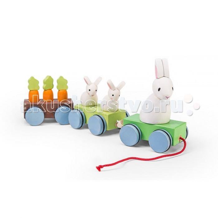 Каталки-игрушки LeToyVan Каталка-поезд Зайчата с морковкой, Каталки-игрушки - артикул:523796