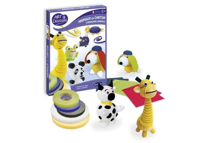 Наборы для творчества SentoSpherE Набор для детского творчества Зверюшки из бумаги набор для детского творчества радужки поделки из бобобусин базовый курс