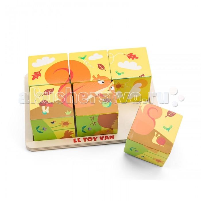 Деревянные игрушки LeToyVan Деревянные кубики Времена года, Деревянные игрушки - артикул:523971