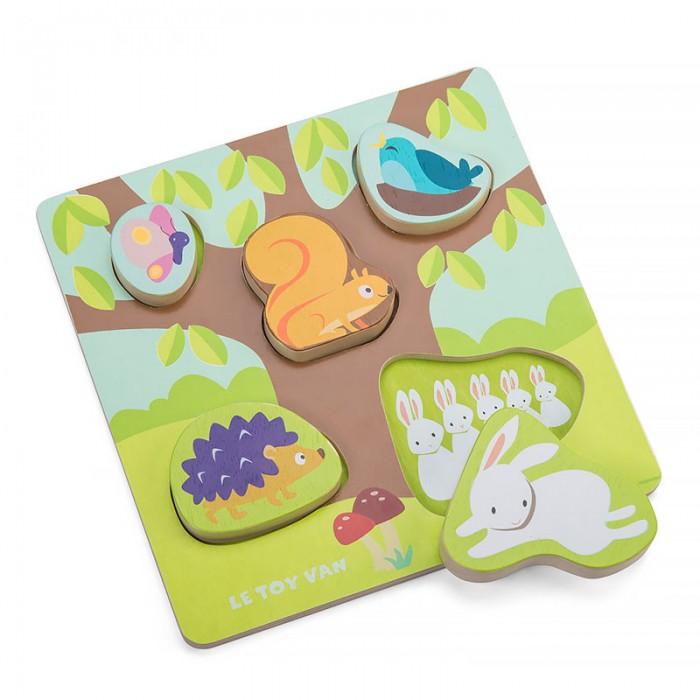 Деревянные игрушки LeToyVan Пазл-рамка Мама и малыш, Деревянные игрушки - артикул:524001