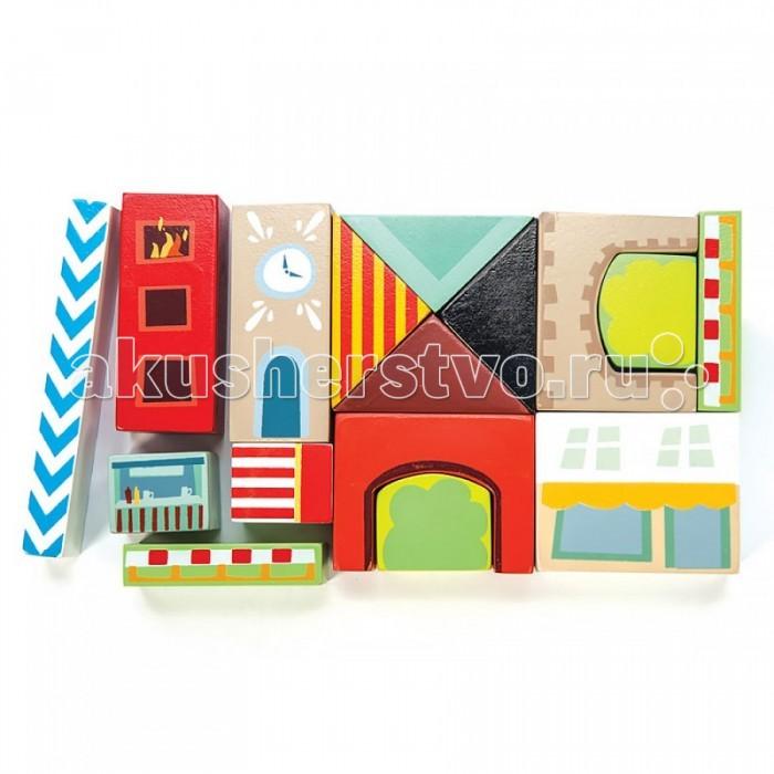 Деревянные игрушки LeToyVan Конструктор Разноцветный город
