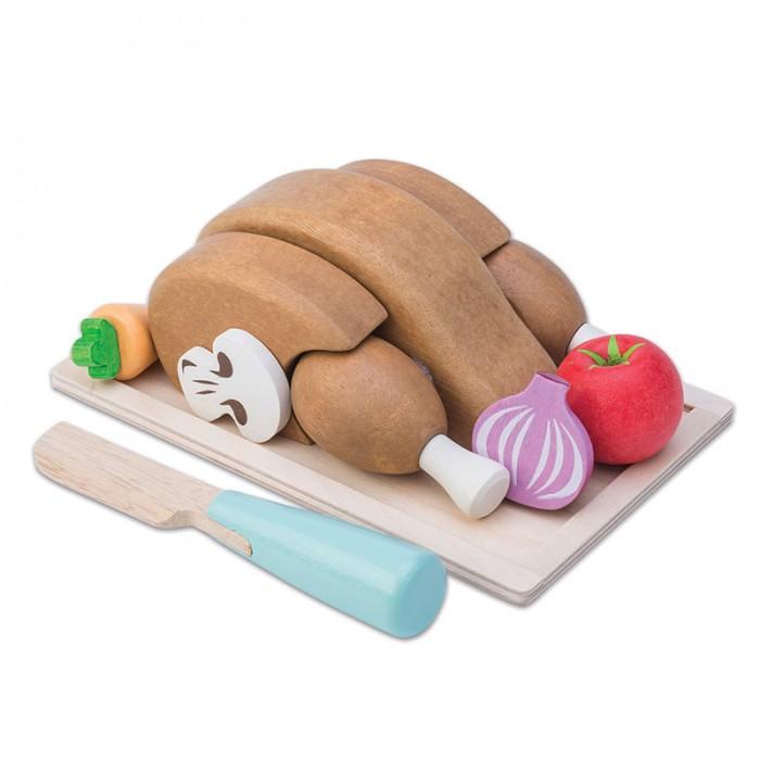Деревянные игрушки LeToyVan Игрушечная еда Жареная курочка с овощами, Деревянные игрушки - артикул:524411