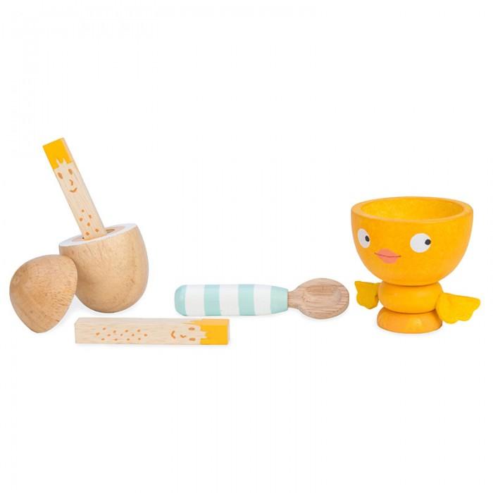 Деревянные игрушки LeToyVan Игрушечная еда Яйцо на завтрак
