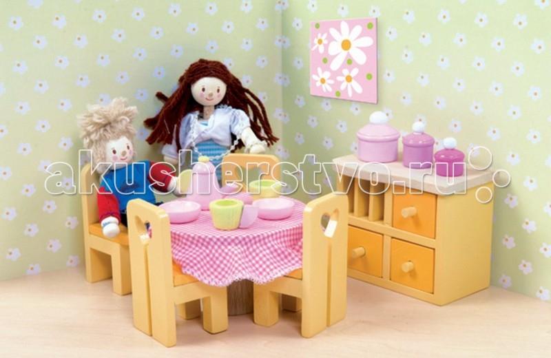 Кукольные домики и мебель LeToyVan Сахарная слива Столовая кукольные домики и мебель letoyvan бутон розы ванная