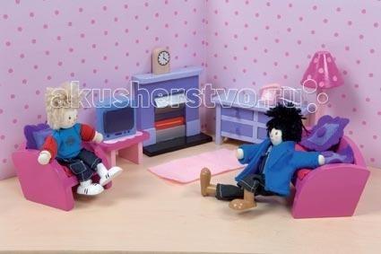 Кукольные домики и мебель LeToyVan Сахарная слива Гостиная кукольные домики и мебель letoyvan бутон розы ванная
