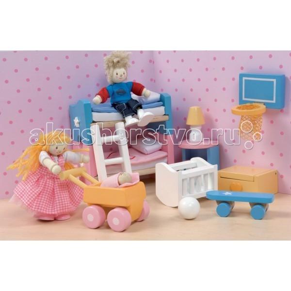 Кукольные домики и мебель LeToyVan Кукольная мебель Сахарная слива Детская кукольные домики и мебель letoyvan бутон розы ванная