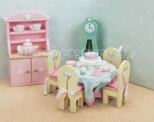 Кукольные домики и мебель LeToyVan Бутон розы Столовая кукольные домики и мебель letoyvan бутон розы ванная