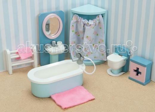 Кукольные домики и мебель LeToyVan Бутон розы Ванная кукольные домики и мебель letoyvan бутон розы ванная