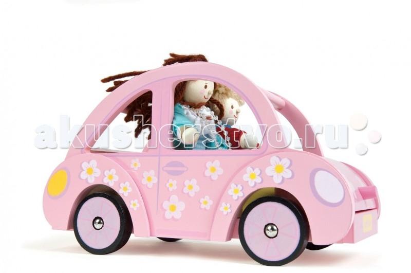 Деревянная игрушка LeToyVan Автомобиль СофиАвтомобиль СофиLeToyVan Автомобиль Софи.  Чудесная деревянная розовая машинка для девочек от английской компании Le Toy Van Открытый автомобильчик, типа кабриолет, для кукол, кукольной семьи. В машинку помещается 4 куклы. Яркий розовый цвет и цветочная роспись по бокам и на капоте. Внутри сидения машинки окрашены в желтый. Машинка на колесиках, легко ездит по любым поверхностям. Капот сделан в виде багажника, свободно открывается, и внутри помещается багаж: маленький розовый чемоданчик с цветочной росписью и маленькая дамская сумочка желтого цвета на шелковой ленточке. Багаж продается вместе с машинкой и входит в стоимость.  Размер машинки специально продуман для кукол 1:12 или меньше. Длина машинки - 21,4 см, глубина - 12,5 см, высота - 11,4 см. Прекрасно сочетается с тематической игрой в кукольные домики.  Автомобиль Софи деревянная машинка сделан из натуральных материалов и окрашен безопасными для детей красками розовый цвет с цветочной росписью свободно ездит на колесиках включает багаж: розовый чемоданчик и желтую сумочку упакован в подарочную коробку куклы продаются отдельно.<br>