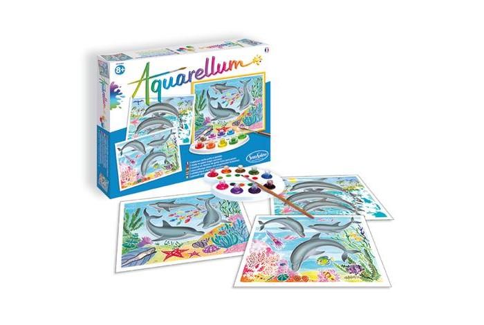 Творчество и хобби , Раскраски SentoSpherE Акварельная Дельфины арт: 526856 -  Раскраски