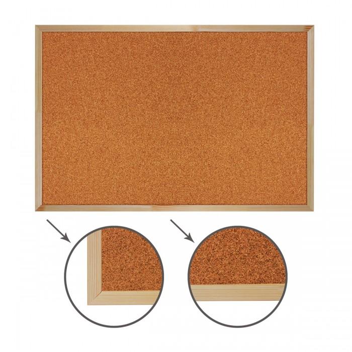 Развитие и школа , Доски и мольберты Brauberg Доска пробковая деревянная рамка 60х90 см арт: 527051 -  Доски и мольберты